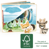 Petite Marelle_Livre dimages interactif Paysage forestier - Small Foot 2
