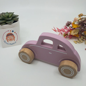 Voiture rose en bois Little Dutch