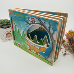 Livre interactif paysage forestier Small Foot